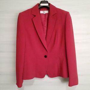 Tahari One-Button Blazer in Red